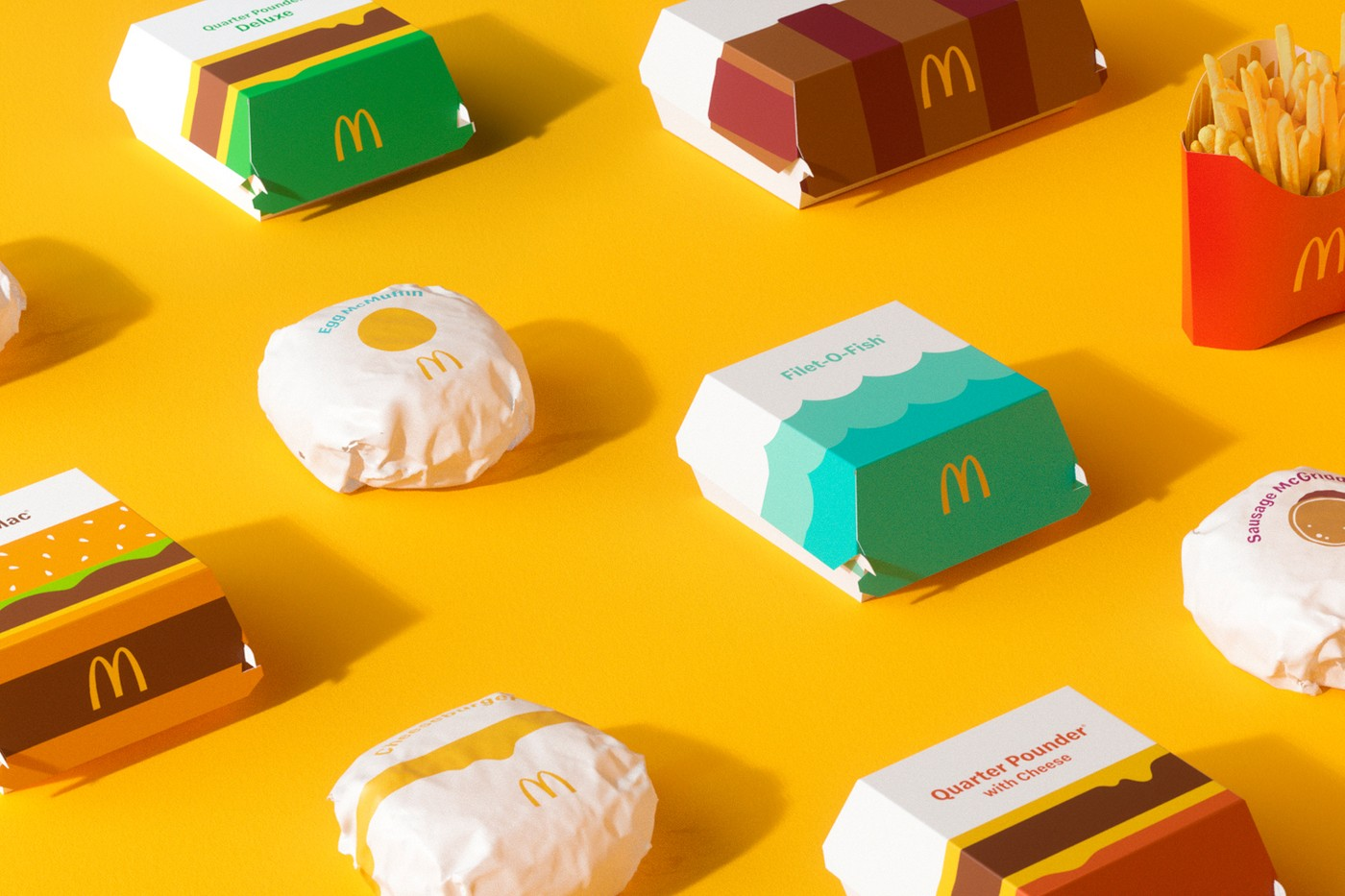mcdonalds redesign rebranding packaging containers 0